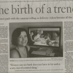 The birth of a trend: Posting childbirth videos online